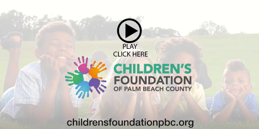 Childrens Foundation of Palm Beach County video button for website